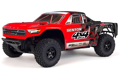 Шорт-корс трак 1:10 ARRMA Senton Mega 550 Brushed 4WD Short Course Truck RTR (красный)