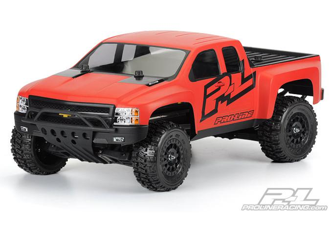 Кузов SC 1/10 - Chevy Silveradoa HD (for Slash, Slash 4X4, SC10) некрашеный