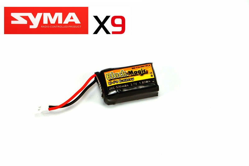 LiPo 3,7В(1S) 500mAh 20C Soft Case Molex plug (for Syma X9)