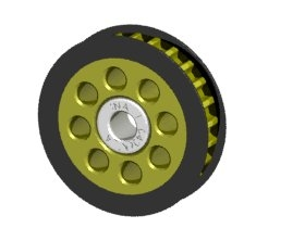 Aluminum Center One Way Pulley Gear T25