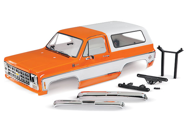 Кузов, Chevrolet Blazer (1979), complete (orange) (includes grille, side mirrors, door handles, windshield wipers, front & rear bumpers, decals)