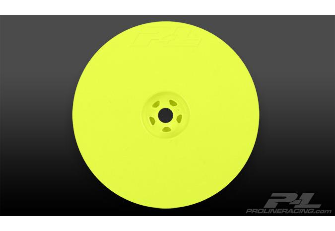 Диски багги 1/10 - Velocity 2.2'' Hex Rear Yellow (2шт) for 22, RB5 and B4.1 with 12mm hex