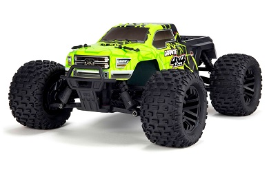Монстр 1:10 ARRMA Granite Mega 550 Brushed 4WD Monster Truck RTR (зеленый)