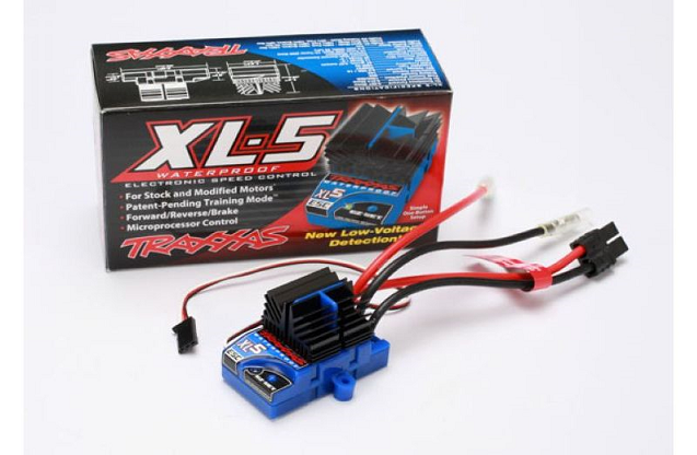 XL-5 Electronic Speed Control, waterproof (land version, low-voltage detection, fwd/rev/brake)