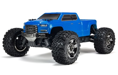 Монстр 1:10 ARRMA Big Rock Crew Cab 3S Brushless 4WD RTR (синий)
