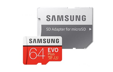 Карта памяти Samsung microSDXC EVO Plus 64GB 60MB/s + SD adapter