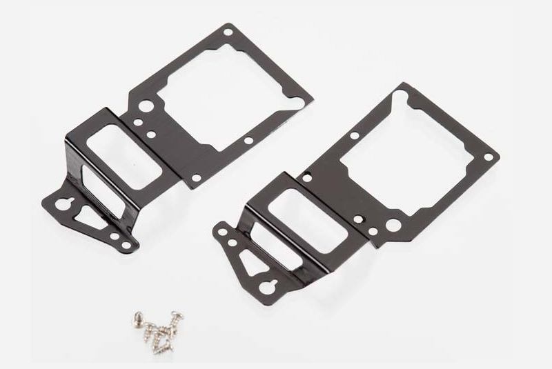 Main frame, side plate, inner (2) (black-anodized) (aluminum)/ screws (6)