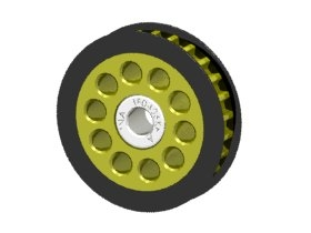 Aluminum Center One Way Pulley Gear T26