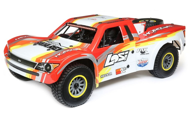 Шорт-корс трак Losi 1:6 Super Baja Rey Brushless 4WD (AVC), электро, RTR (красный)