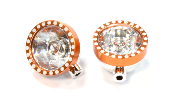 Realistic Plastic Housing for 5mm LED (2) Light 1/10 Off-Road (orange)