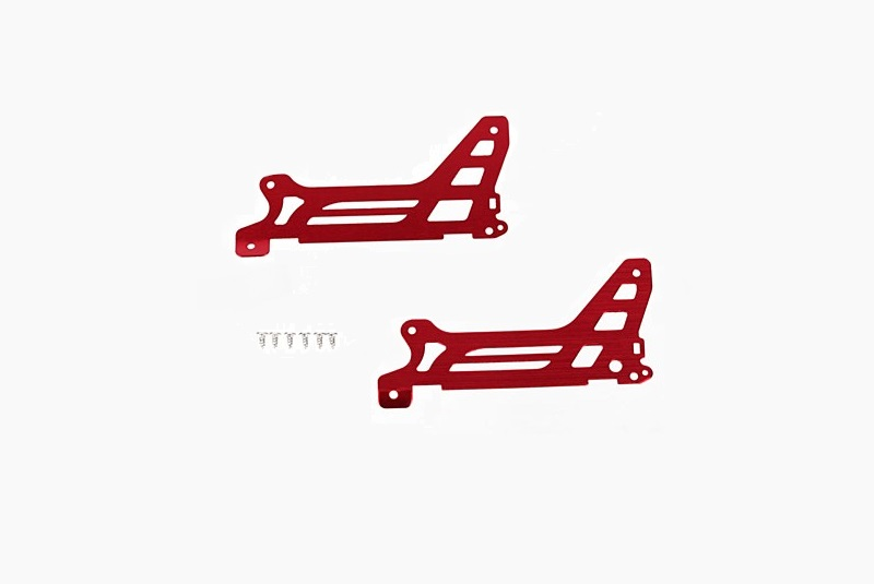 Main frame, side plate, outer (2) (red-anodized) (aluminum)/ screws (6)