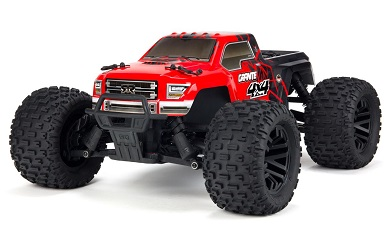 Монстр 1:10 ARRMA Granite Mega 550 Brushed 4WD Monster Truck RTR (красный)