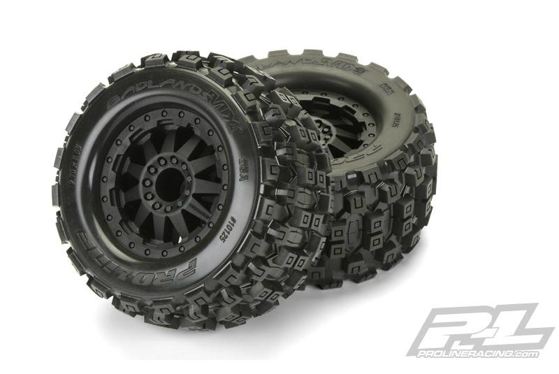 Колеса в сборе Proline F-11 Black Wheels + Badlands MX28 2.8'' All Terrain Tires