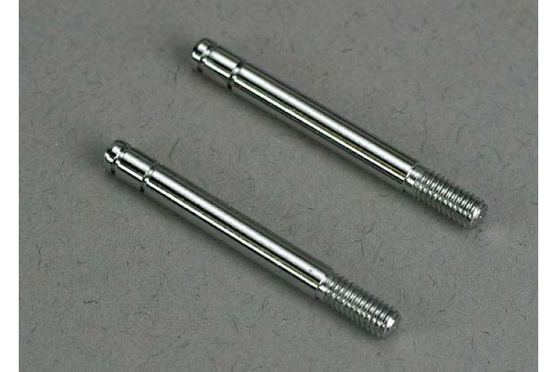 Shock shafts, steel, chrome finish (29mm) (front) (2)