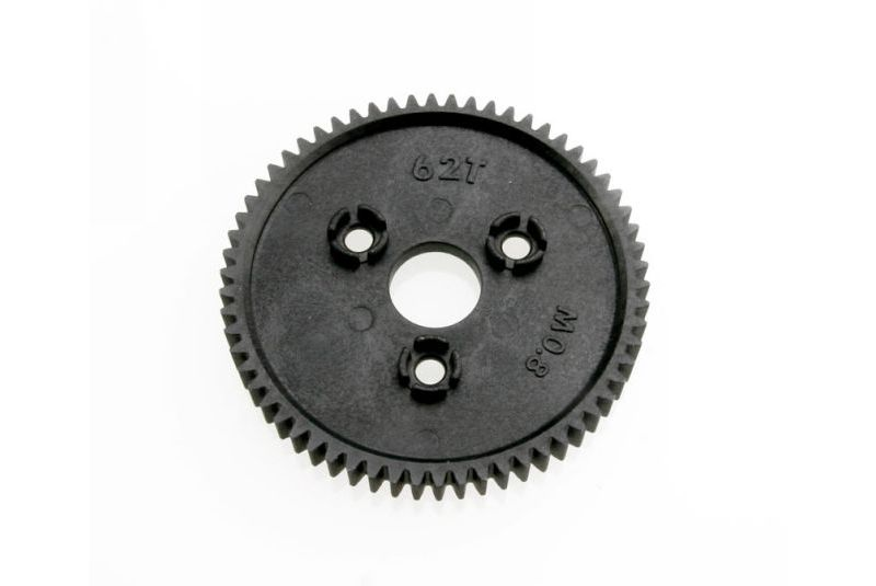 Spur gear, 62-tooth (0.8 metric pitch, compatible with 32-pitch)