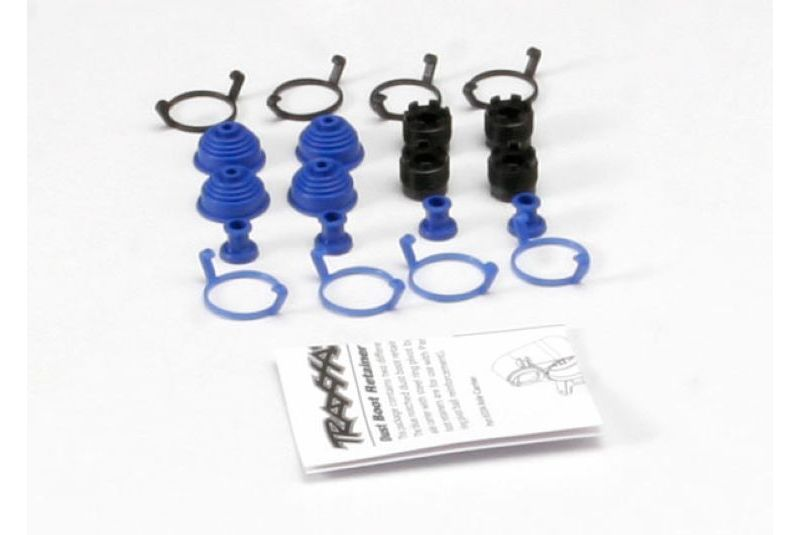 Pivot ball caps (4)/ dust boots, rubber (4)/ dust plugs, rubber (4)/ dust boot retainers, black (4),