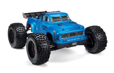 Монстр 1:8 ARRMA Notorious 6S BLX 4WD Brushless Classic Stunt Truck with Spektrum RTR, Blue