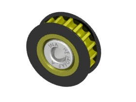 Aluminum Center One Way Pulley Gear T17