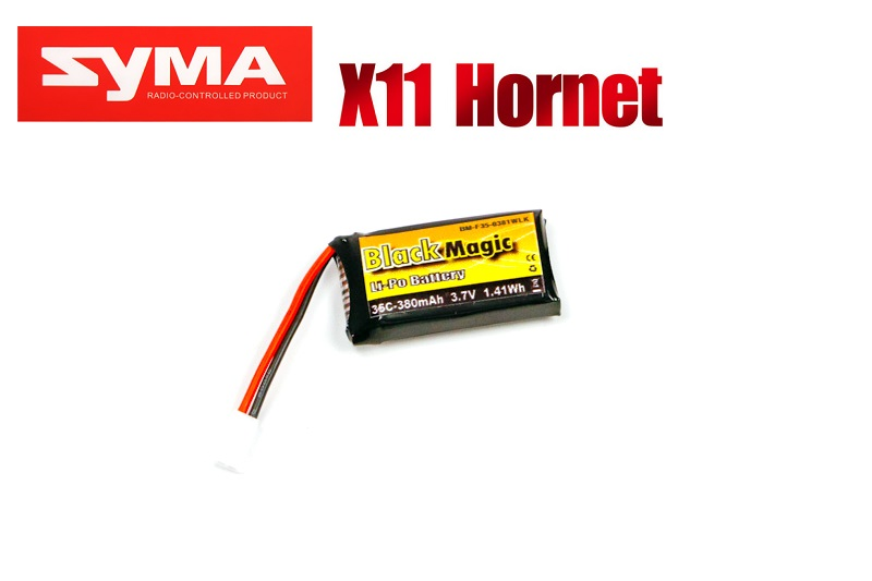 LiPo 3,7В(1S) 380mAh 30C Soft Case Molex plug (for Syma X11)