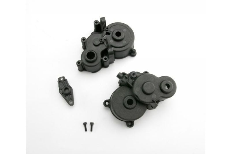 Gearbox halves (front & rear)/ shift detent ball/ spring/ 4mm GS/ shift shaft seal, glued/ 2.5x8