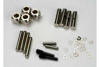 U-joints, driveshaft (carrier (4)/ 4.5mm cross pin (4)/ 3mm cross pin (4)/ e-clips (20)) (metal part