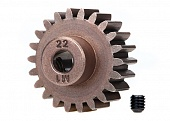 Шестерня пиньон, 22T pinion (1.0 metric pitch) (fits 5mm shaft): set screw (compatible with steel spur gears)