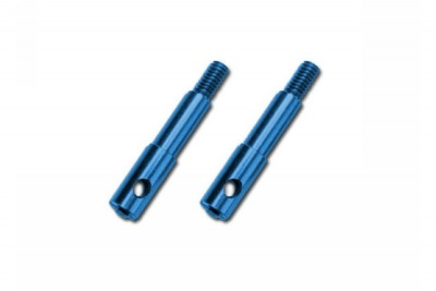 Wheel spindles, front, 7075-T6 aluminum, blue-anodized (left & right)